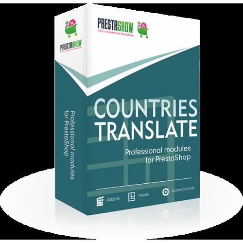 Countries translations for PrestaShop