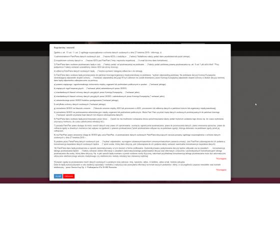 Menadżer zgód i regulaminów PrestaShop (RODO, GDPR)