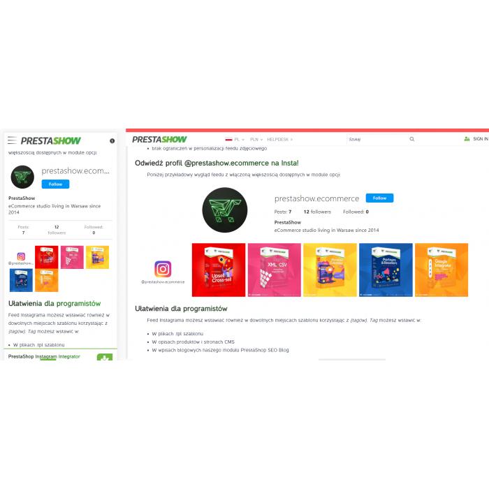 Instagram module for PrestaShop