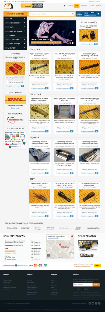 Webshop - main page